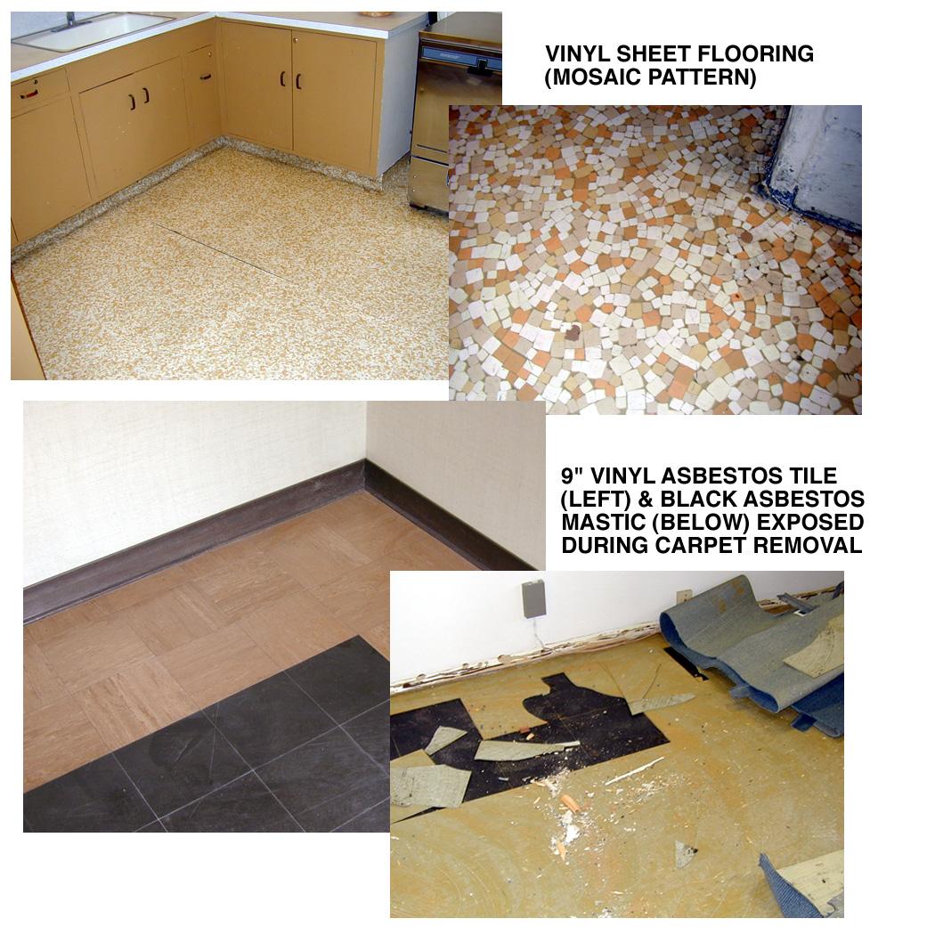 Asbestos in vinyl floor tiles