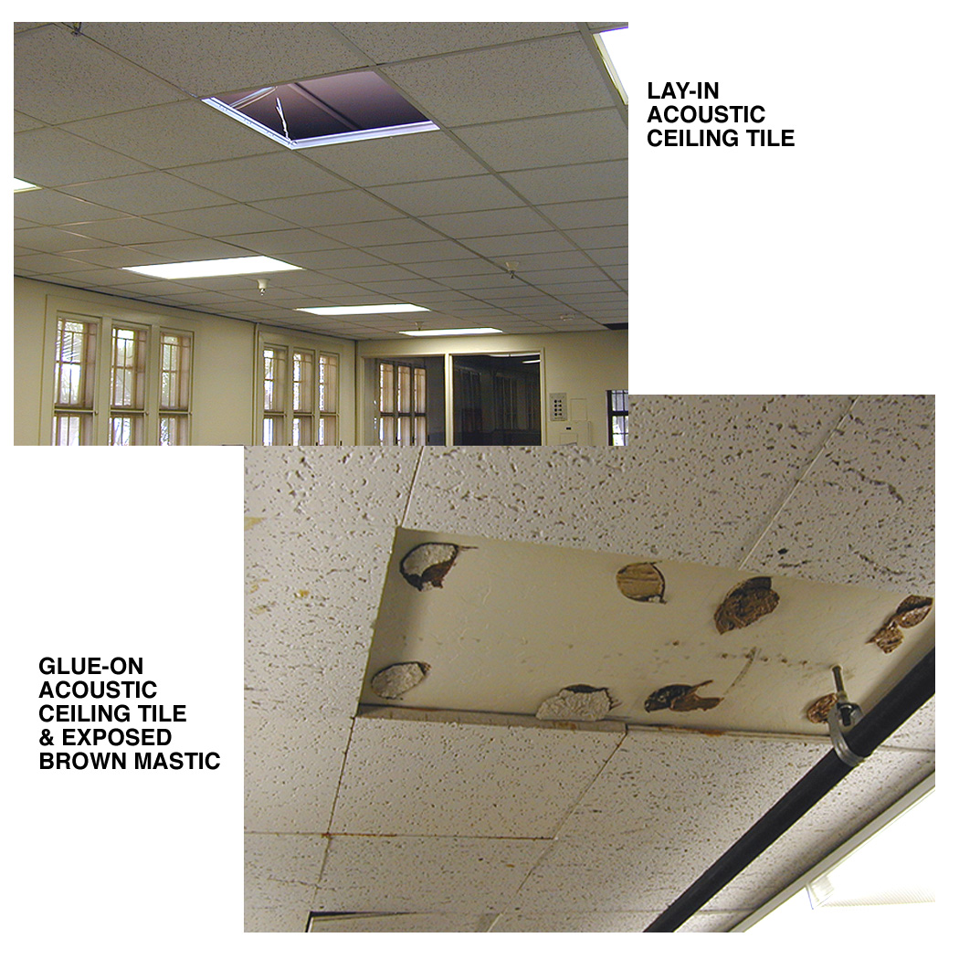 Asbestos fact sheet stanford environmental health safety acoustic ceiling or wall tile adhesives dailygadgetfo Gallery