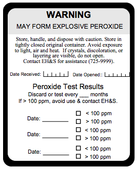 Information On Peroxide Forming Compounds Stanford